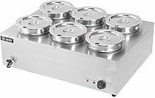 Commercial Food Warmer Stainless Steel, 6 Round