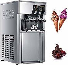 Commercial Ice Cream Machine, Three Flavors Ice