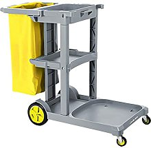 Commercial Janitorial 3-Shelf Cart,
