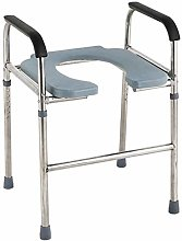 Commode Chair, Deluxe Bathroom Stainless Steel