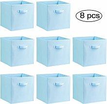 COMOTS Canvas Foldable Storage Box Collapsible Box