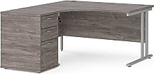 Compact 1400 Left Hand Corner desk with 3 Drawer