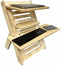 Compact Adjustable Plywood Standing Desk