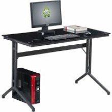 Compact Black Glass Computer Desk Capelin PC 17bg