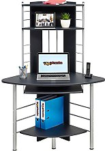 Compact Corner Computer Desk and Workstation with