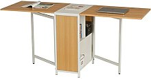 Compact Foldable Table and Desk with Storage for