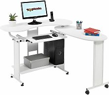 Compact Folding Computer and Writing Desk with