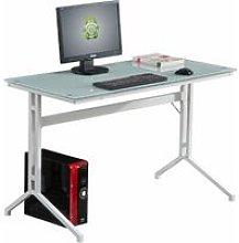 Compact Tempered Glass Computer Desk Capelin PC