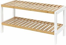 Compactor 2 Shelf Shoe Storage Rack for 10 Pairs