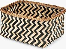 Compactor Zebra Storage Basket, Black / Natural,