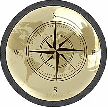Compass Nautical Map Knobs and Pull Handle for