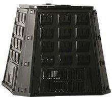 Compost Bin Black 400 L 6071480 - Black - Nature