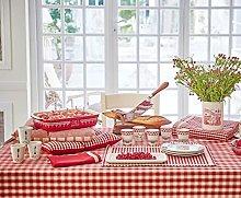 Comptoir de famille Large Check Tablecloth -