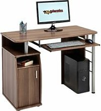 Computer and Writing Desk with Cupboard, Storage &