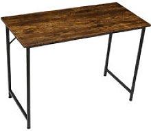 Computer Desk 105*50*73cm Brown+Black Laptop Metal