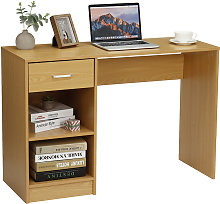 Computer Desk 109x40x74cm Walnut Workstation