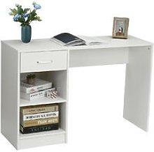 Computer Desk 109x40x74cm White Workstation Wooden
