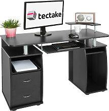 Computer desk 115x55x87cm - black