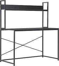 Computer Desk 120x60x138 cm Black - Black - Vidaxl