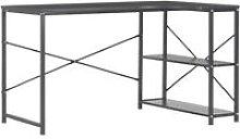 Computer Desk 120x72x70 cm Black - Black - Vidaxl