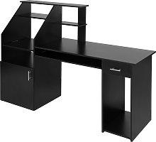 Computer desk 164.5cm - black