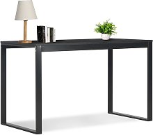 Computer Desk Black 120x60x73 cm VD07539 - Hommoo