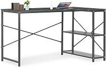 Computer Desk Black 120x72x70 cm VD07552 - Hommoo