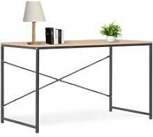 Computer Desk Black and Oak 120x60x70 cm