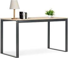 Computer Desk Black and Oak 120x60x73 cm - Hommoo