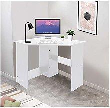 Computer Desk Corner 2 Shelf Laptop PC Table Home