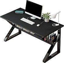 Computer Desk Gaming Desk with Storage Shelf Black