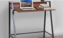 Computer Desk HomCom: Dark Walnut