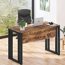 Computer Desk, Industrial Writing Desk With Front