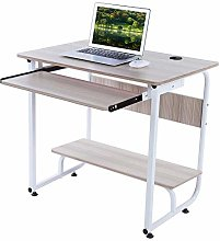 Computer Desk Keyboard Tray With Storage Shelf For
