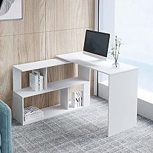 Computer Desk, L-Shape Large Office Desk,Folding