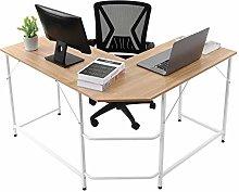 æ— Computer Desk L-Shaped Writing Workstation