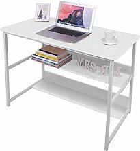 Computer Desk, Laptop Table with Bookshelf,