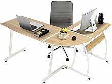 Computer Desk Office Desk L-Shaped Wood Corner