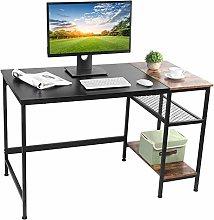 Computer Desk Office Desk Table with Shelves,