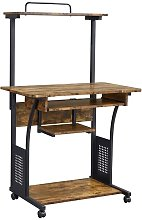 Computer Desk PC Table With Shelves Home Office w/