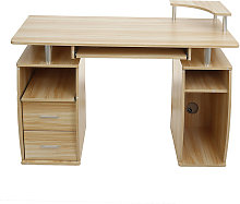 Computer Desk PC Workstation Table With Shelves