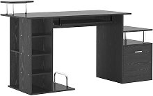 Computer Desk PC Workstation with Drawer Shelves