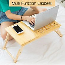 Computer Desk Portable Wooden Lapdesk Table Bed
