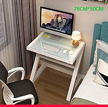 Computer desk Simple and modern, tempered glass,