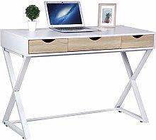 Computer Desk Table With 3 Drawers Dressing Table