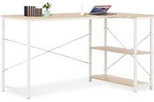Computer Desk White and Oak 120x72x70 cm