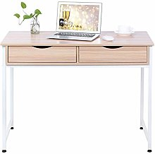 Computer Desk with 2 Drawers Particleboard Laptop