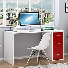 Computer Desk with 3 Drawer Compact Study Table PC