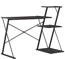 Computer Desk with 3 Tier Storage Shelves Desk