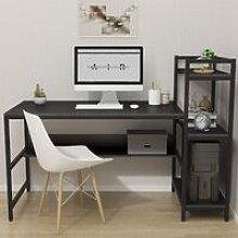 Computer Desk with 4 Tier Storage Shelves -